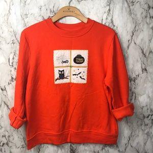 Vintage 80s Fall Pumpkin Crewneck Halloween top